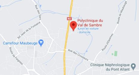 plan polyclinique du val de sambre google